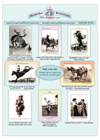 Cowboy-Cowgirl Birthday Cards Collection 1