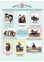 Cowgirl Birthday Cards Collection 2