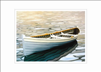 Rowboat in Silver Water
