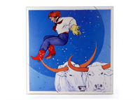 "Cowgirl Over the Moon 8"" Tile"